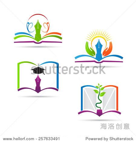 教育本标志矢量设计代表学校,教育标志和象征.