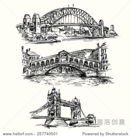 著名的桥梁——手绘 - 建筑物/地标,其它 - 站酷海洛