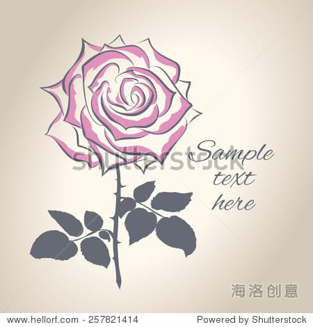 手绘玫瑰花矢量插图 - 物体,自然 - 站酷海洛创意正版