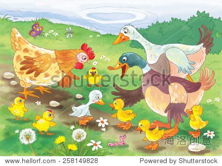 童话故事.儿童插图-动物/野生生物