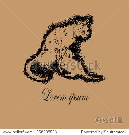 创意标志动物收容所