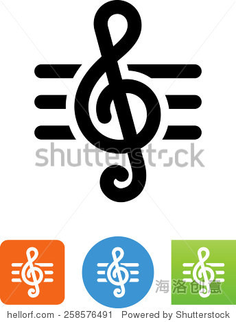 高音谱号 矢量图标为视频,移动应用程序,网站和印刷项目 艺术 站