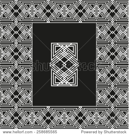 几何黑白种族抽象设计