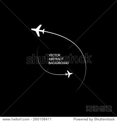 两架飞机在运动图像.黑白色背景