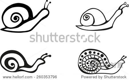 的黑色图形蜗牛-动物/野生生物,符号/标志-海洛创意