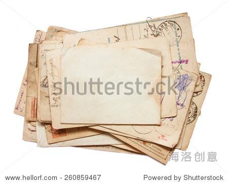 古董背景,旧报纸和信件 - 背景/素材,复古风格 - 站酷