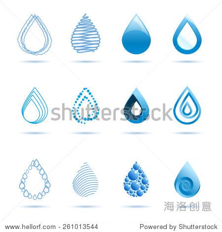 平坦的工作量和drops EPS 10 自然,抽象 站酷海洛创意正版图片,