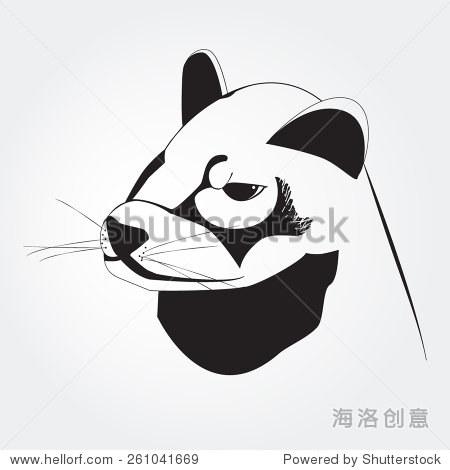 雪貂的黑白画 - 动物/野生生物,自然 - 站酷海洛创意