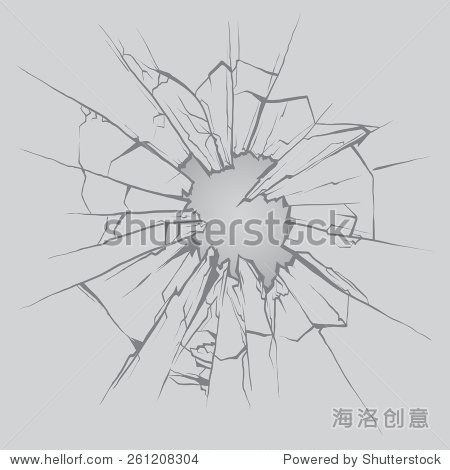 碎玻璃,手绘,矢量插图