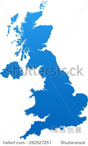 英国地图 - 交通运输