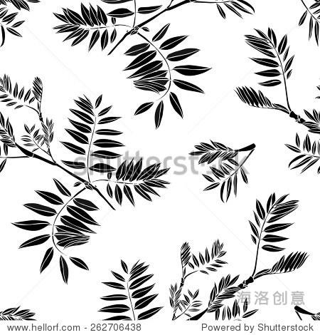 向量无缝装饰——黑白色背景