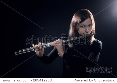 flute player flutist playing music instrument flute classical