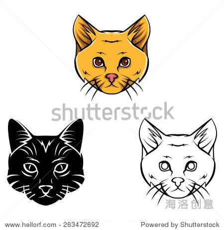 彩色书猫头的卡通人物