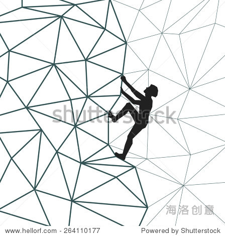 climberplant_vector abstract silhouette climber