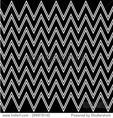 黑白条纹图案.矢量图