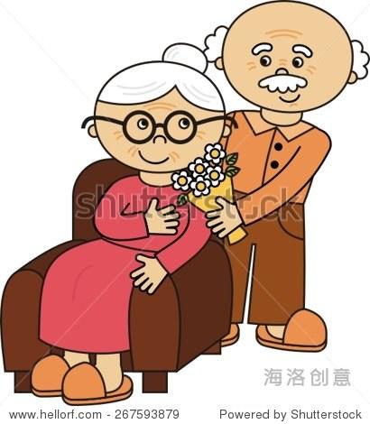 快乐可爱的老夫妇,爷爷奶奶图片