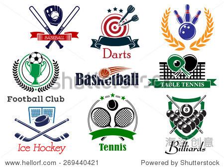 基于足球的v足球元素体育和象征秋千与标志或足户外a足球纹章展销会图片