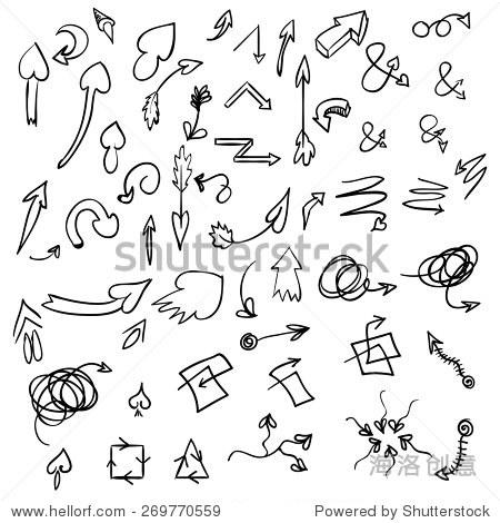 手绘矢量箭头,设计元素集