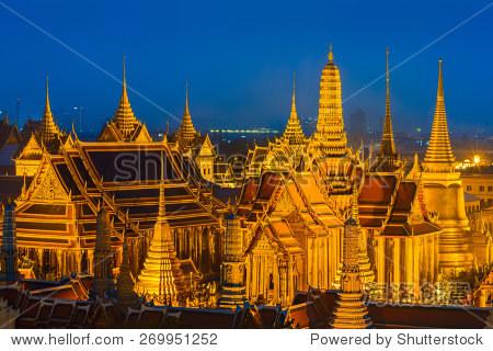 泰国标志建筑手绘