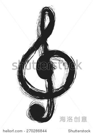 音符,高音谱号,设计元素