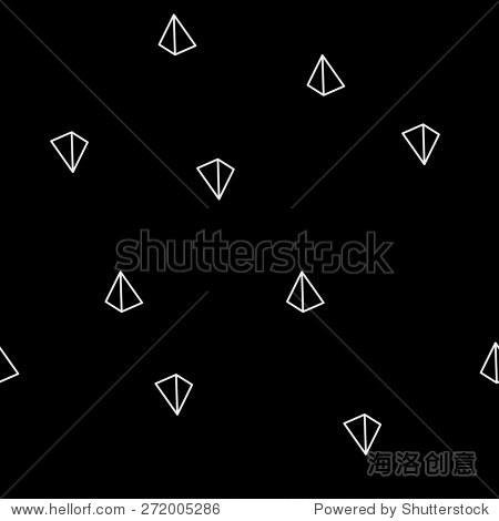 几何形状简单的黑白简约的金字塔模式或三角形