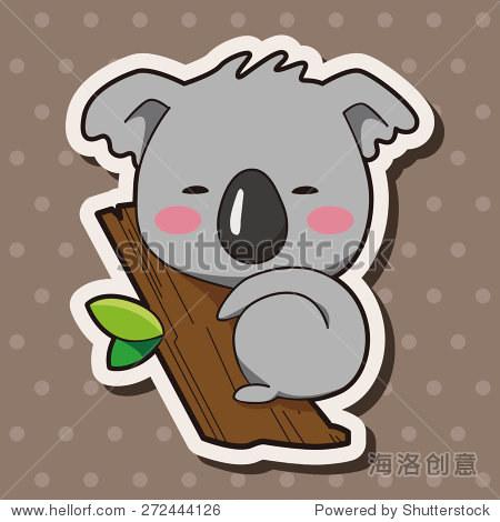 动物考拉卡通主题元素