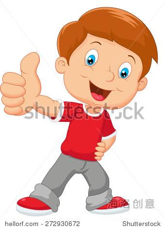 卡通小男孩放弃拇指 - 人物 - 站酷海洛创意正版图片
