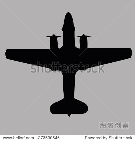 飞机俯视图