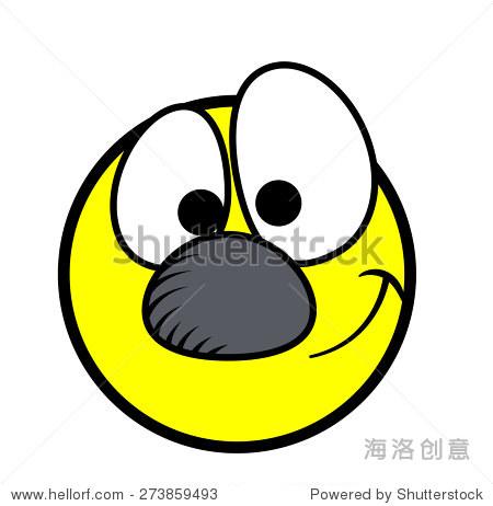 快乐的无辜的漫画卡通脸图片