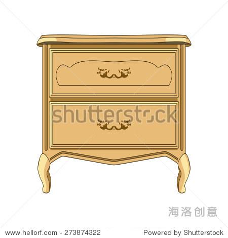 复古风格的床头柜,木材