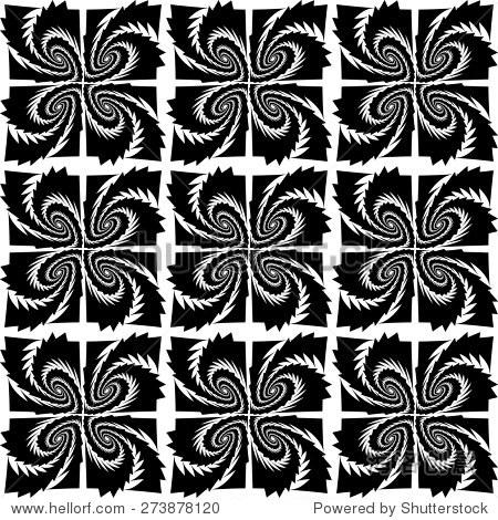 设计无缝的黑白花纹.抽象的几何背景.矢量艺术