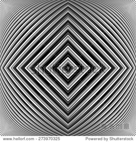 设计黑白几何背景错觉.抽象条纹失真的背景.矢量艺术插图.eps10