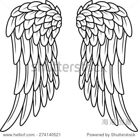 卡通天使翅膀