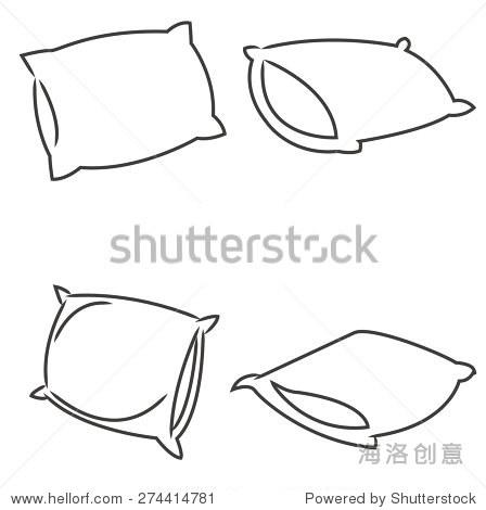 枕头卡通向量