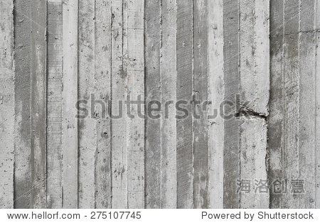 木模板上的纹理原始混凝土墙为背景