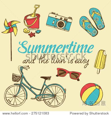 复古的暑假与手绘自行车