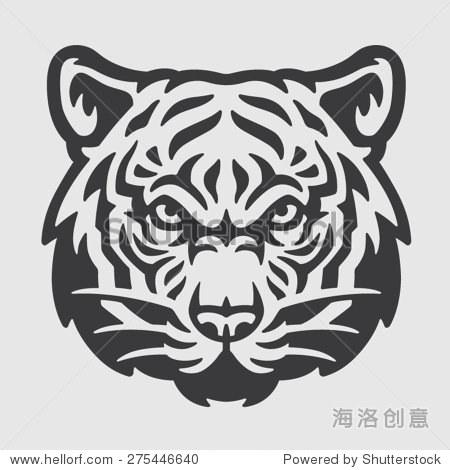 老虎头标志吉祥物象征
