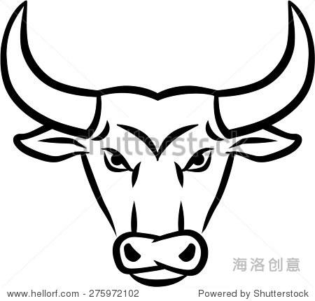 愤怒的公牛头-动物/野生生物-海洛创意正版图片
