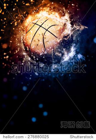 篮球运动的海报或传单背景空间
