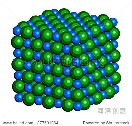 氯化钠(岩盐,岩盐,食盐),晶体结构.