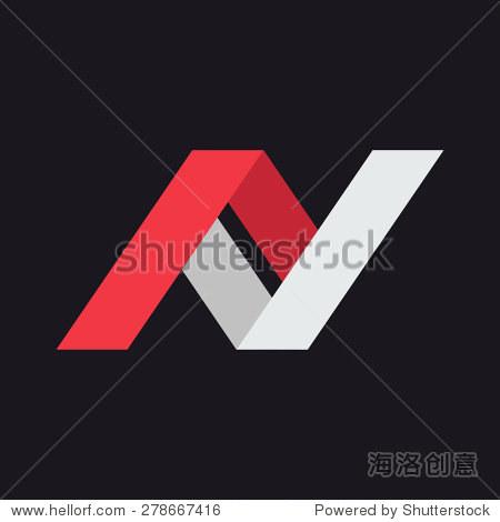 n字母标志图标设计模板元素.图形字母表公司企业身份的象征.