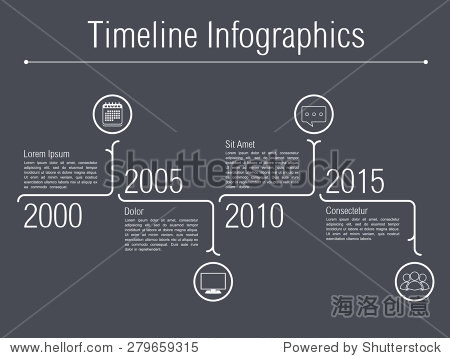 Minimal timeline infographics design template, vector eps10 illustration