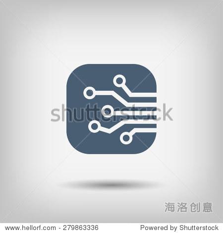 象形文字的电路板-科技,符号/标志-海洛创意正版图片