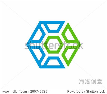 标志的六边形.矢量为贵公司设计