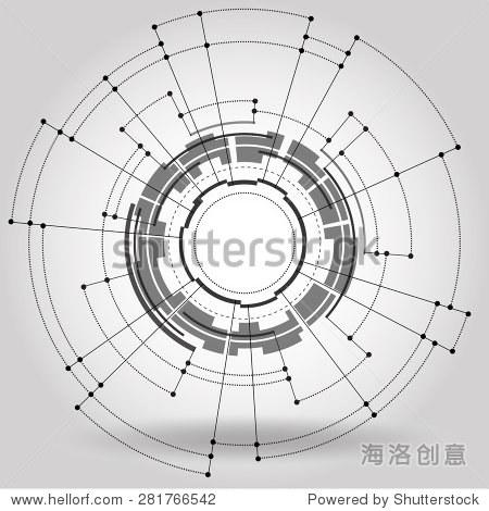 抽象的光电路电脑线技术,矢量图