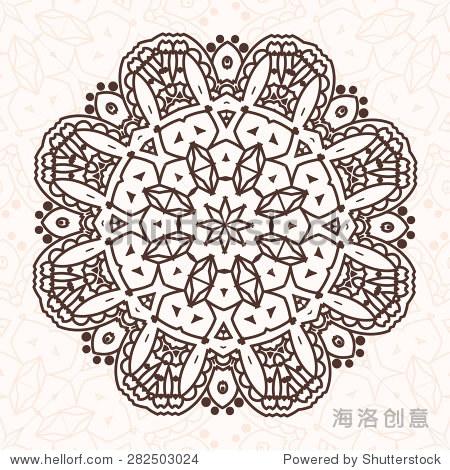 圆的曼荼罗在向量.图形设计的模板.