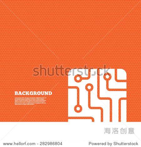背景与无缝模式.电路板信号图标.技术方案广场的象征.