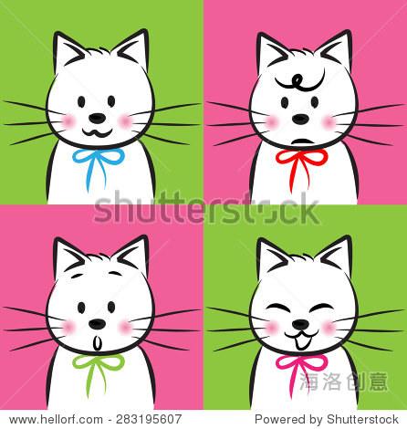 矢量图的猫脸 - 动物/野生生物,符号/标志 - 站酷海洛