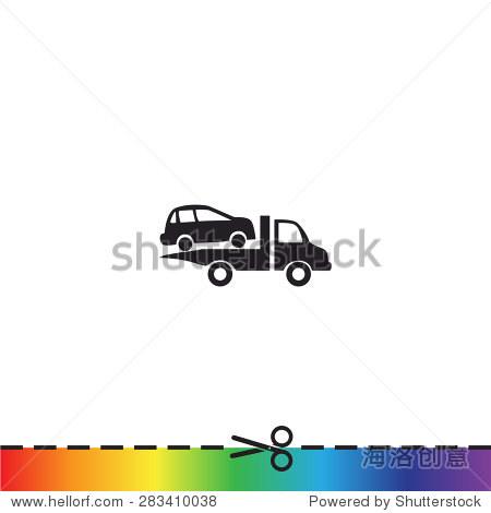 牵引卡车矢量图标