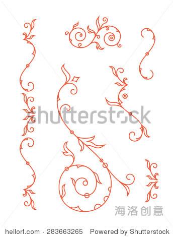 装饰元素,花卉装饰为婚礼邀请卡.矢量图